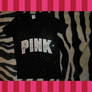 Victorias Secret PINK T-Shirt Diamond Rhinestone